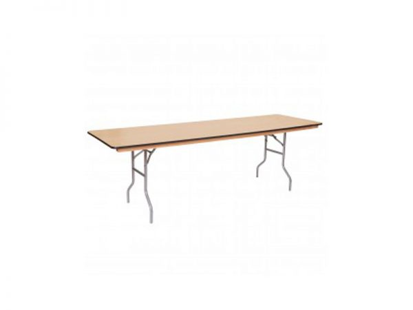 8 Ft. Wood Rectangle Table 262×334