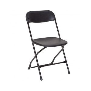 Chair Folding Plastic Black-910x1155