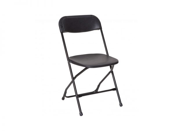 Chair Folding Plastic Black-910×1155