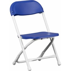 Children_s Blue Plastic Folding Chair