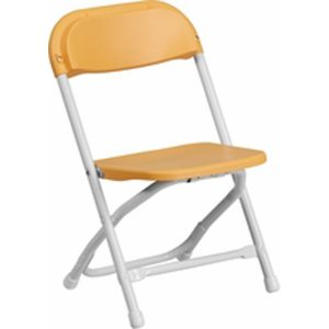 Children_s Yellow Plastic Folding Chair