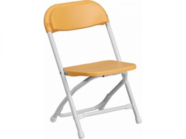 Children_s Yellow Plastic Folding Chair