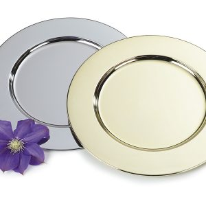 Gold and Silver Charger-Plates