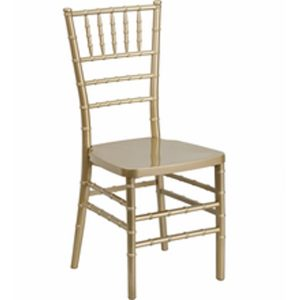 Resin Gold Chiavari Chair
