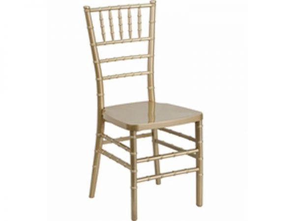 Resin Gold Chiavari Chair