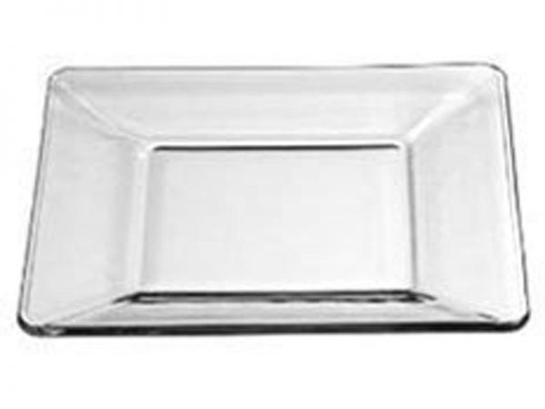 Tempo Square Glass Bread and Butter Plate, 6 Inch Clear
