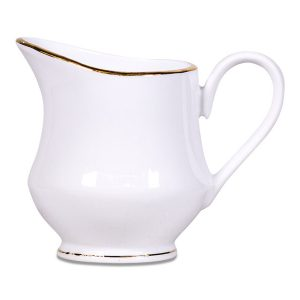 White Creamer with Gold Band 0P3A7750