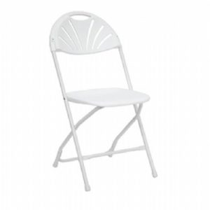 White Plastic Fan Back Chair